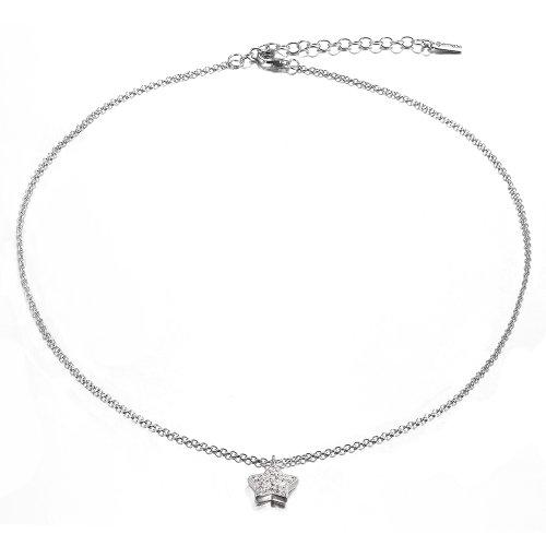 4b0d1b134e3c Dormith® Plata de ley 925 blanco estrella collares diamante checa para las  mujeres moda joyas