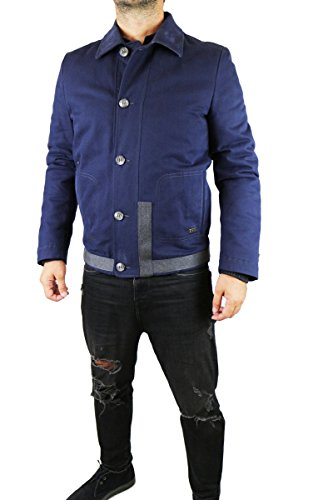 ICEBERG size. 50 giacca uomo blu grigio cotone AK400