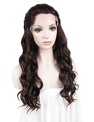Auburn Color Long Wavy Texture Cosplay Drag Queen Wig by IMSTYLE (Auburn Perücken)