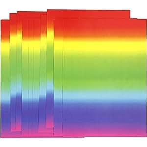 Papier arc-en-ciel, A4 21x30 cm, 180 gr, 10feuilles