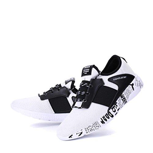 Hommes Chaussures de sport Respirant Entraînement de plein air Chaussures de course Baskets white black