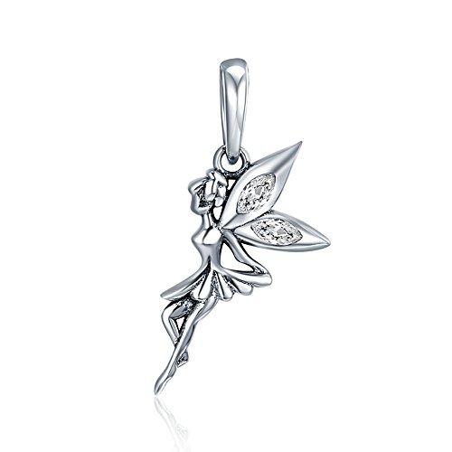 Jewellbox Charm-Anhänger Tinkerbell Disney Fee Sterling-Silber 925 S925 für Armbänder oder Halsketten