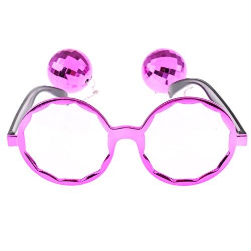 FLAMEER Hängende Disco Kugel Brille Brille Brille Neuheit Gag Geschenk Foto Prop - Lila