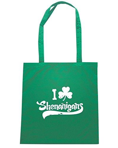 T-Shirtshock - Borsa Shopping TIR0074 i shamrock shenanigans dark tshirt (1) Verde