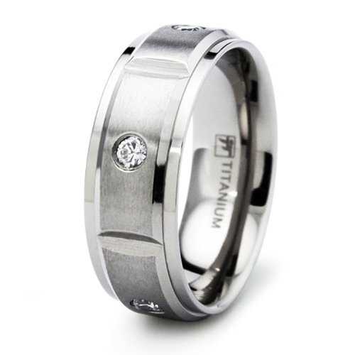 Incisione resa personale titanio fede nuziale anello, misura 28