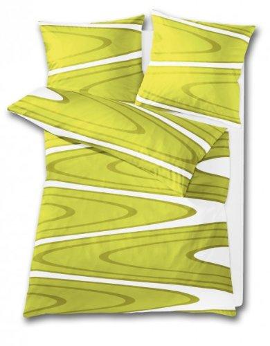 Bettwäsche Vanity (Kleine Wolke Bettwäsche Vanity 135 x 200 cm und 80 x 80 cm 2-teilig Alge)