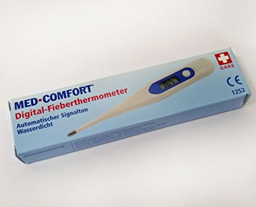 MED COMFORT Digital Fieberthermometer wasserdicht Thermometer Baby Kinder LCD