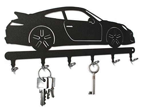 Schlüsselbrett / Hakenleiste * Porsche 911 * - Schlüsselboard Auto, Schlüsselleiste Sportwagen, Metall - 6 Haken schwarz