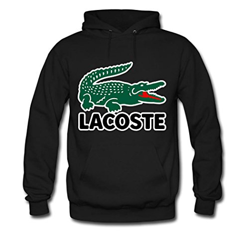 POLO Tops Mens 2016 Fashion Ultimate Lacoste Krokodil Kapuzenpullover Hoodie Sweatshirt Large Black