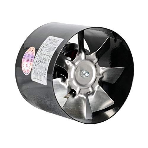 220V Rohrventilator Kanalventilator Abluftventilator, Φ 95 mm, 25 W, 260 m³ / h, Schwarz