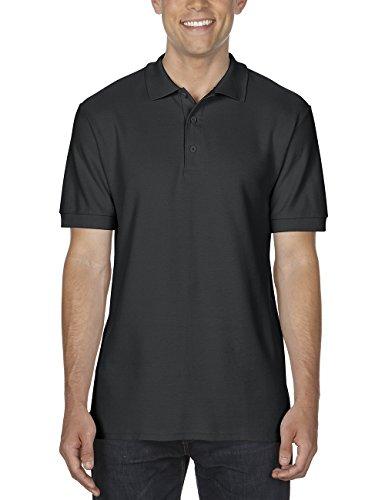 GILDAN Herren Poloshirt Adult Premium Cotton Double Piqué Polo/85800, Einfarbig Schwarz (Black 36)