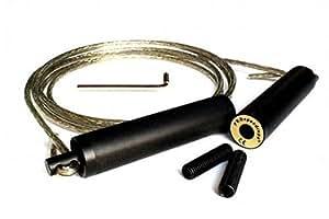 PROspeedrope Gold Springseil, 300cm lang, Länge einstellbar, kugelgelagert, schnell drehend, sehr schwer