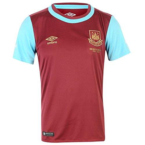 Umbro 2015-2016 West Ham Home Football Soccer T-Shirt Camiseta (Kids)