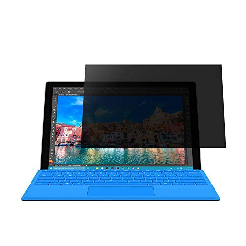 Womdee Privacy Folie für Microsoft Surface Pro 4, Surface Pro Privacy Screen Bildschirmschutzfolie, Anti-Schock, Anti-Scratch, Anti-Bubble, Ultra-glatt