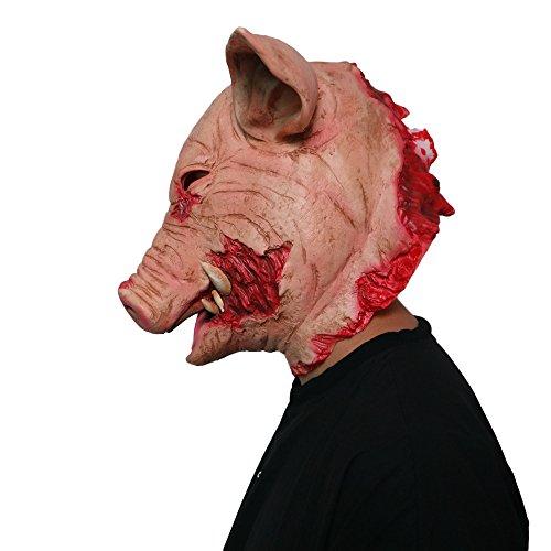 Platz Werwölfe Kostüm - LYzpf Halloween Maske Schweinekopf Grusel Gruselmaske Latex Full Face Requisiten Kopfbedeckung Für Erwachsene Kind Cosplay