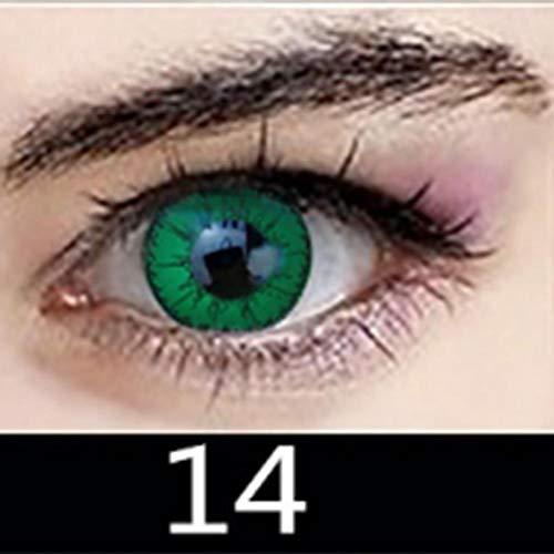 d80db0c909 Un Par Lentillas Lentes De Contacto Cosméticas Para Lentes De Contacto  Cosmeticas Fantasía Anuales Válidas Altamente