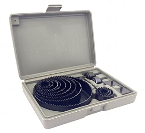 Hole Saw Kit 16 pieces 3/4-5 Full Set in Case with Mandrels and Install Plate by EDMBG