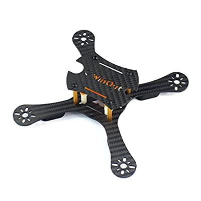 QWinOut Q-ONE 180 mm Carbon Fiber Frame Kit X Shape Shatter-Resistant Design for DIY Micro FPV Racing Quadcopter Drone (Unassembled)