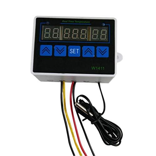 SO-buts Digitaler Thermostat, W1411 Temperatur-Thermometer-Controller mit Wasserdichter Sonde für Inkubator PC-Box EPS Inkubator Geeignet (24V) -