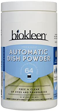 Biokleen Automatic Dish Soap Powder - 32 oz - Fragrance Free
