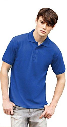 Fruit Of The Loom Polo Premium Uomo Manica Corta Aderente Cotone Maniche Corte, Colore: Blu Royal, Taglia: XXL