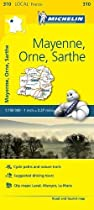 Mayenne, Orne, Sarthe - Michelin Local Map 310