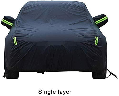 Car Cover Usando per MINI JCW JOHN COOPER WORKS, protezione antivento traspirante completamente impermeabile antivento pioggia UV sole per tutte le stagioni con strisce fluorescenti resistente univ