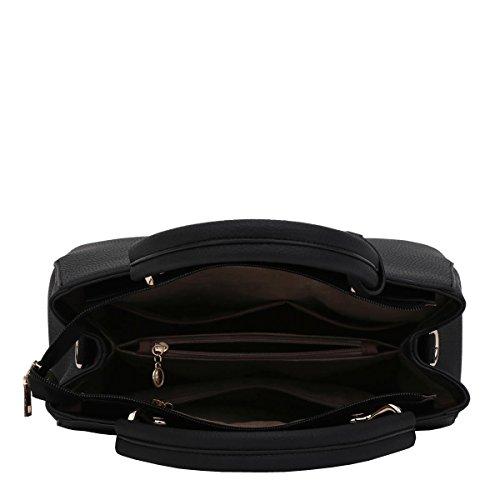 DISSA S867 neuer Stil PU Leder Deman 2018 Mode Schultertaschen handtaschen Henkeltaschen,300×130×220(mm) Schwarz
