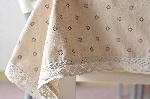 Tuhaxz 3 Arten Spitze Leinen Tischdecke Blume Kirsche Landhausstil Multifunktionale Tischdecken Tischdecke