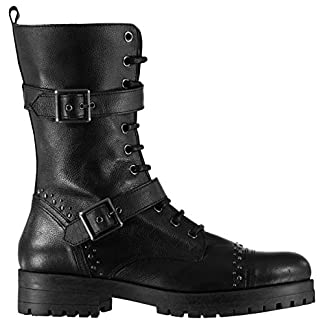 Firetrap Womens Hatti Boots Rugged Lace Up Zip Ankle High 13