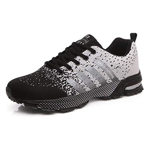 Sneakers all'aperto uomo, running scarpe da corsa casual sportive ginnastica fitness scarpe nero 35-48