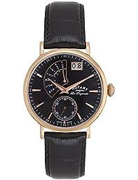 Rotary Watches Herren-Armbanduhr Quartz Complication Analog Quarz Leder GS90087/04