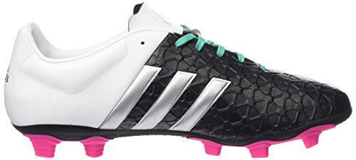 Adidas Ace 15.4 Fxg, Scarpe da Calcio Uomo Nero (schwarz/silber/weiß)