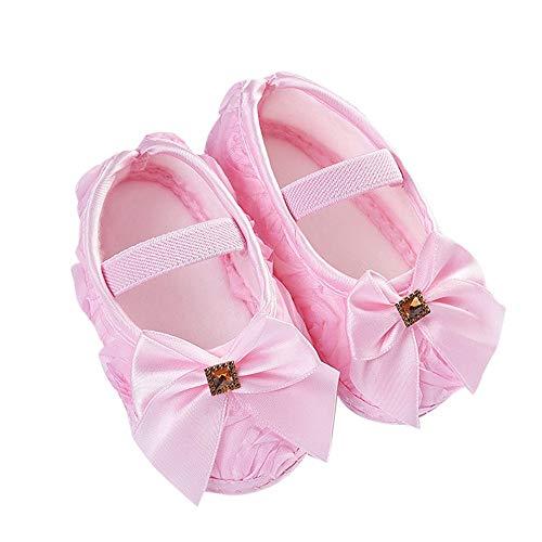 KonJin Baby Schuhe Kleinkind Kind Baby Mädchen Rose Bowknot Gummiband Neugeborenen Wanderschuhe Sneaker Sport- & Outdoorschuhe Schuhe 0-18 Monate