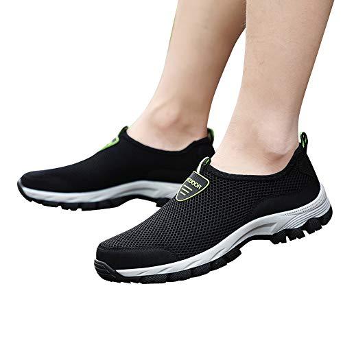 Wanderschuhe Herren 48,Dasongff Turnschuhe Männer Schwarz Ultraleicht Atmungsaktiv Textil Schuhe,Unisex Freizeitschuhe
