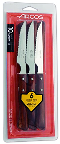 Arcos 372000 Lot de 6 Couteaux à Steak 110 mm