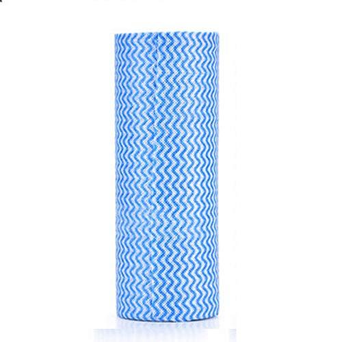 WESEEDOO Stendibiancheria Piatto Rag Panni per La Pulizia Strofinaccio Monouso Salviette Detergenti per La Cucina Estrazione Multiuso Assorbimento d'Acqua per Lavare I Piatti da Cucina 1 PC Blue