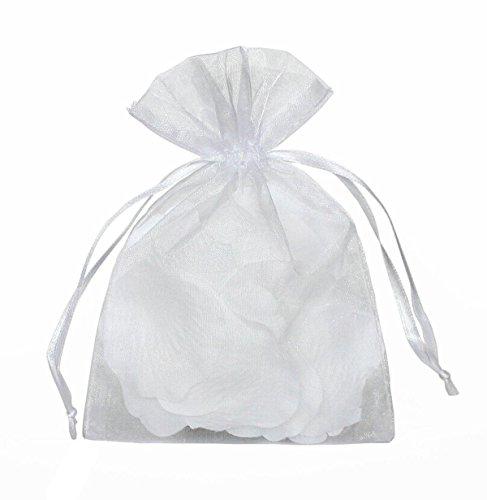 VIVOSUN 50 Stücke Organza Säckchen Organza Beutel Geschenktüte Schmuck Tachen für Hochzeit Weiß Einfarbig