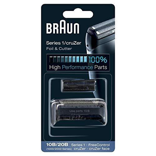 Braun series 1 10b/20b testina di ricambio, compatibile con i rasoi cruzer e della serie 1, nero