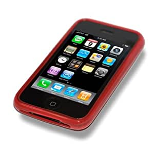 BPM Red Silicone Case Cover Skin & Screen Protector for Apple iPhone 3G/3GS