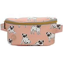 Mi-Pac Gold Slim Bum Bag  Riñonera de Marcha, 22 cm, 2 Litros, Pugs Peach