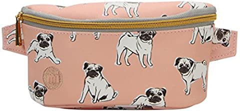 Mi-Pac Pugs Slim Bum Bag Money Belt, 22 cm, 2 L - Peach