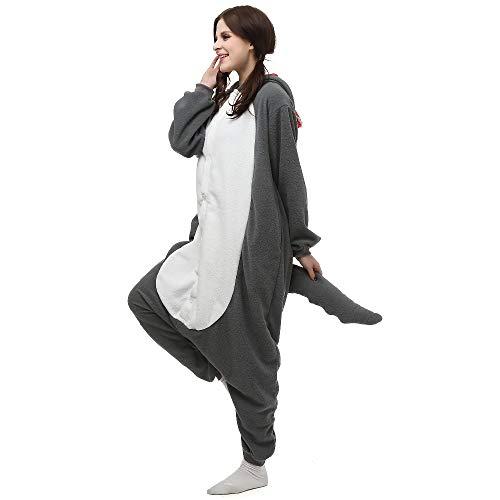 JIAWEIDAMAI Weihnachten Halloween Geburtstagsgeschenk Pyjamas Gray Wolf Homewear Hoodie Onesies Nachtwäsche Robe Für Erwachsene