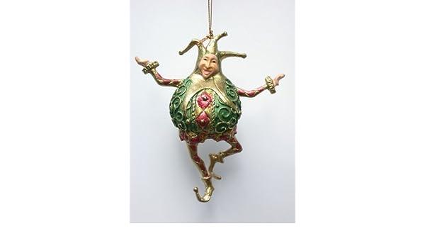 rot Deko H/änger gold gr/ün Harlekin 14 cm Christbaumschmuck