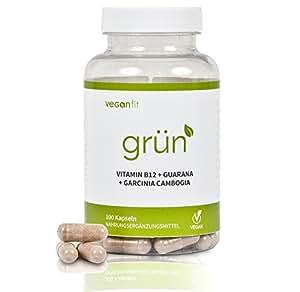GRÜN - 100% natürlicher Premium Fatburner Komplex mit Superfoods. Richtig abnehmen in 2018. Guarana, Grüntee-Extrakt, Vitamin B12, Garcinia Cambogia | vegan | hochdosiert | made in germany