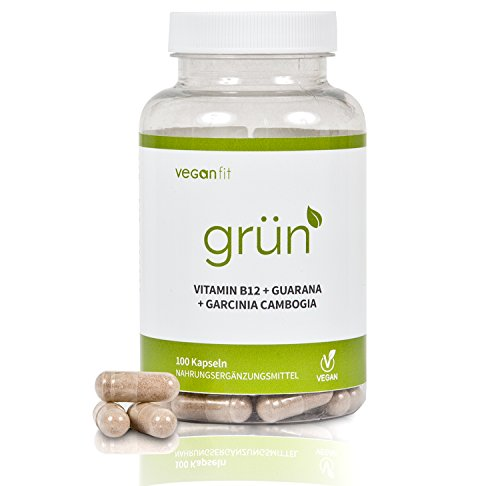 GRÜN - 100% natürlicher Premium Fatburner mit Superfoods. Richtig abnehmen in 2018. Guarana, Grüntee-Extrakt, Vitamin B12, Garcinia Cambogia | vegan | hochdosiert | made in germany