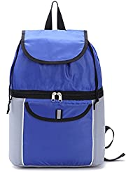 woson 14L refrigerador aislado bolsa mochila plegable bolsa de almuerzo enfriador de leche materna bolso térmico de picnic al aire libre Camping azul