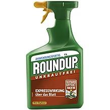 Roundup AC Unkrautfrei, Anwendungsfertiges Spray zur Bekämpfung von Unkräutern, Gräsern und Moos , 1 Liter Sprühflasche