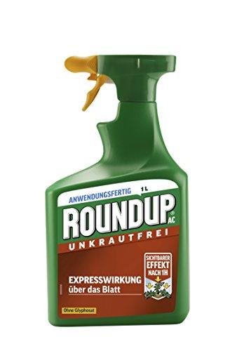 Roundup AC Unkrautfrei, Anwendungsfertiges Spray zur Bekämpfung von Unkräutern, Gräsern und Moos, 1 Liter Sprühflasche