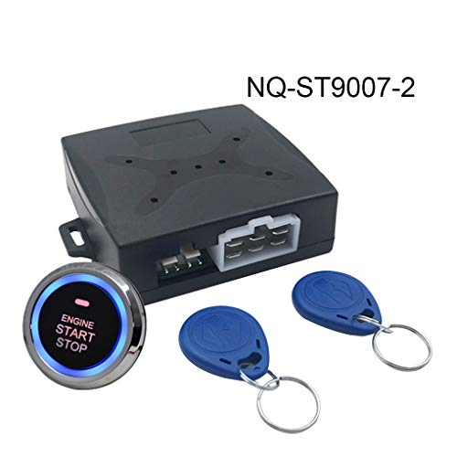 Topker Auto-Auto-Warnung Motor Star Push Button Start Stop RFID Sperre Zündschloss Keyless Entry System-Starter - Start Smart Remote Starter